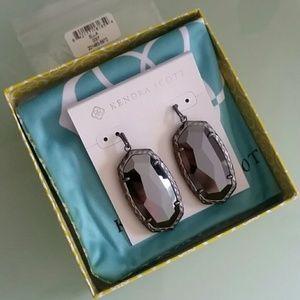 Kendra Scott Hematite Ella earrings